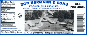 Don Hermann & Sons Kosher Dill label
