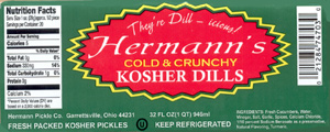Hermann's Kosher Dill Label